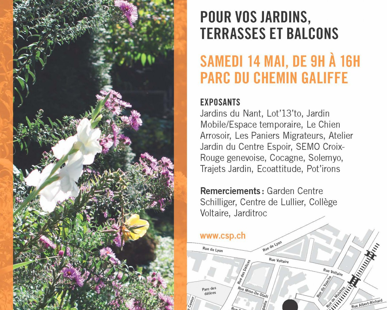 flyer marché de Galiffe